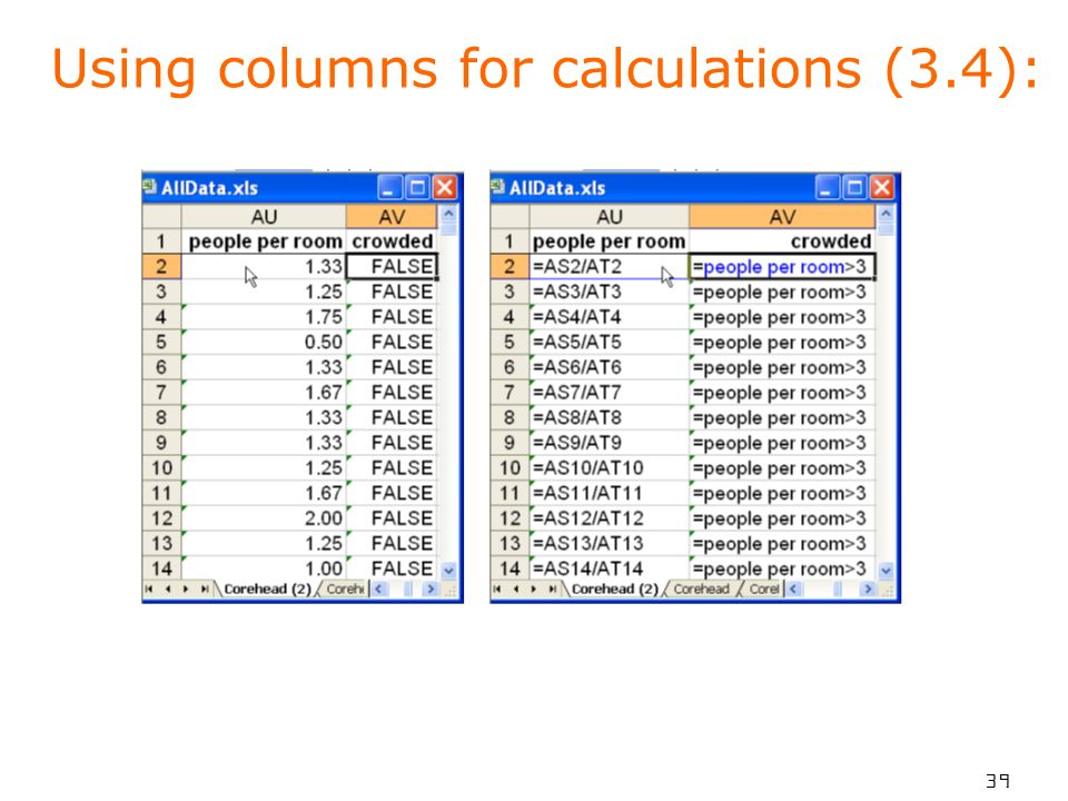 39 Using columns for calculations (3.4):