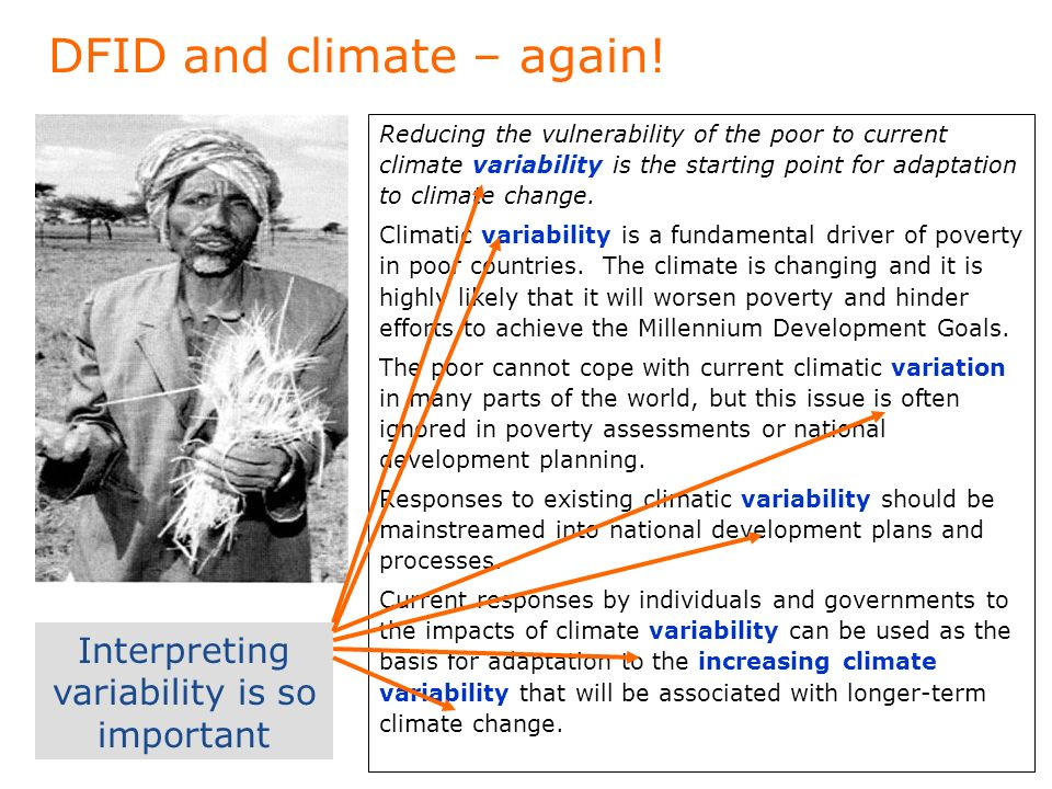 DFID and climate – again.