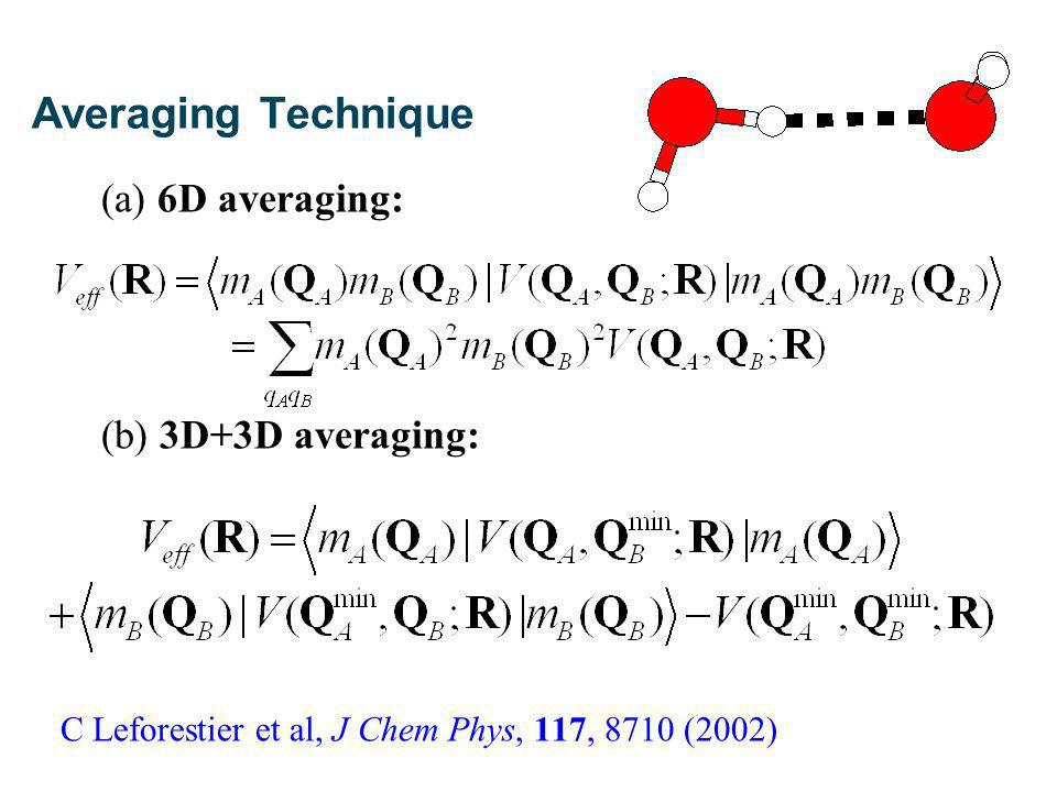 Vibrational Averaging: 6D Energies up to 16,000 cm -1 sufficient.