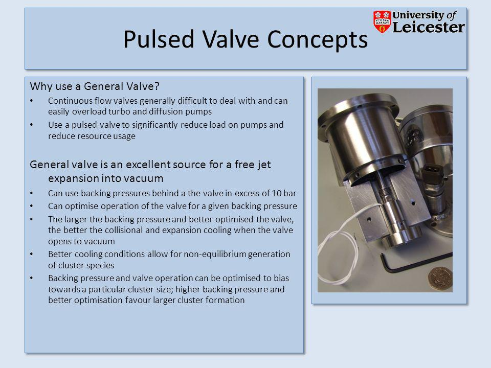 Pulsed Valve Concepts Why use a General Valve.