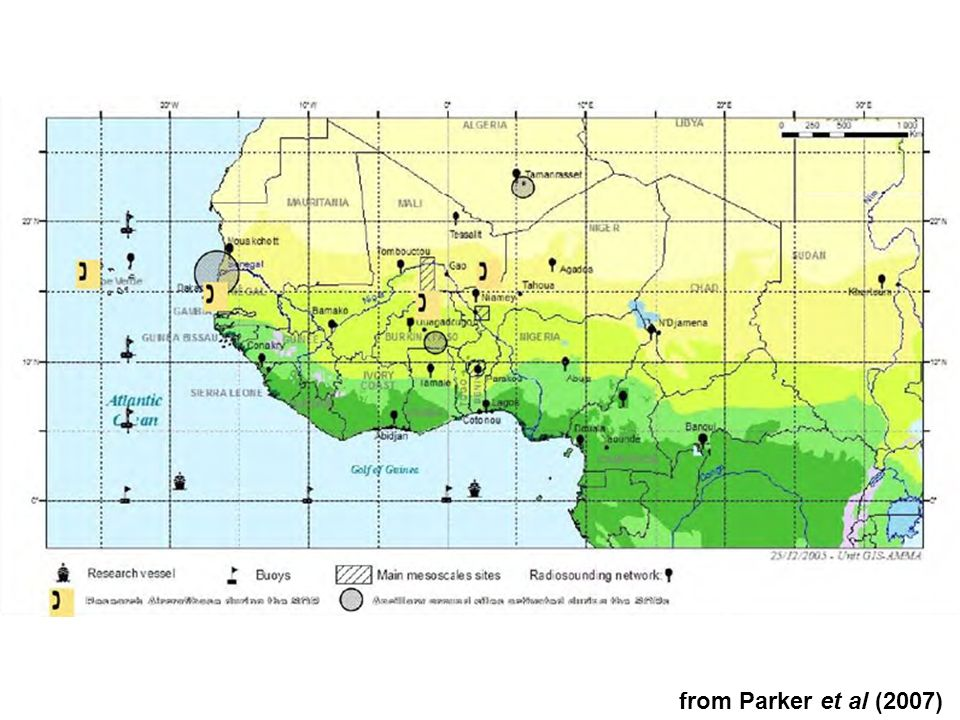 Aim: analyse model skill at different spatial/temporal scales, considering interactions between atmospheric dynamics & parameterisations – fact that AMMA (the African Monsoon Multidisciplinary Analysis) is multiscale allows evaluation of regional climate change predictions and improvement of physical schemes
