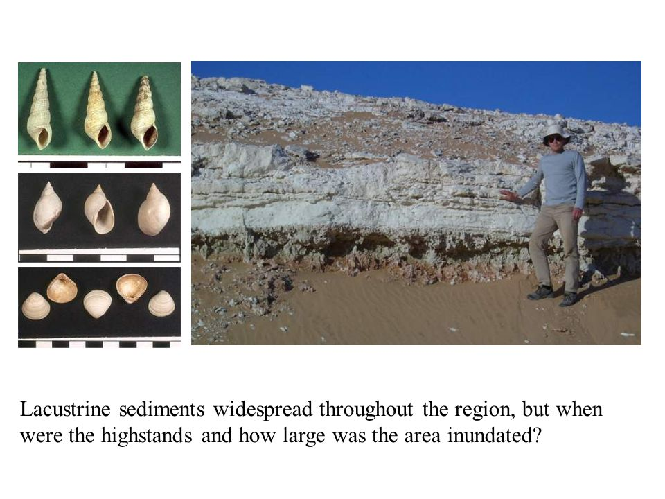 Lacustrine sediments widespread throughout the region, but when were the highstands and how large was the area inundated