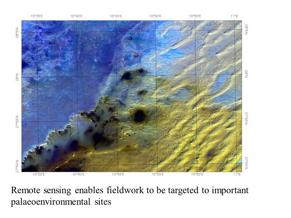 Multispectral optical remote sensing enables identification of outcrops of lacustrine sediments rich in sulphates and carbonates 3 km