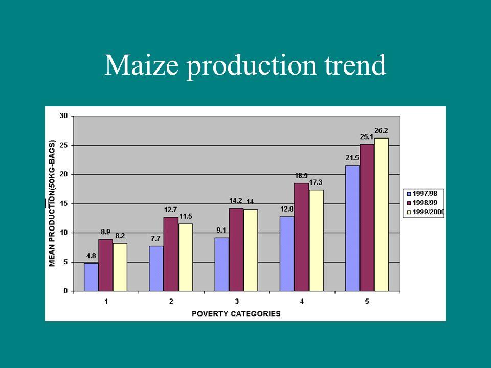 Maize production trend