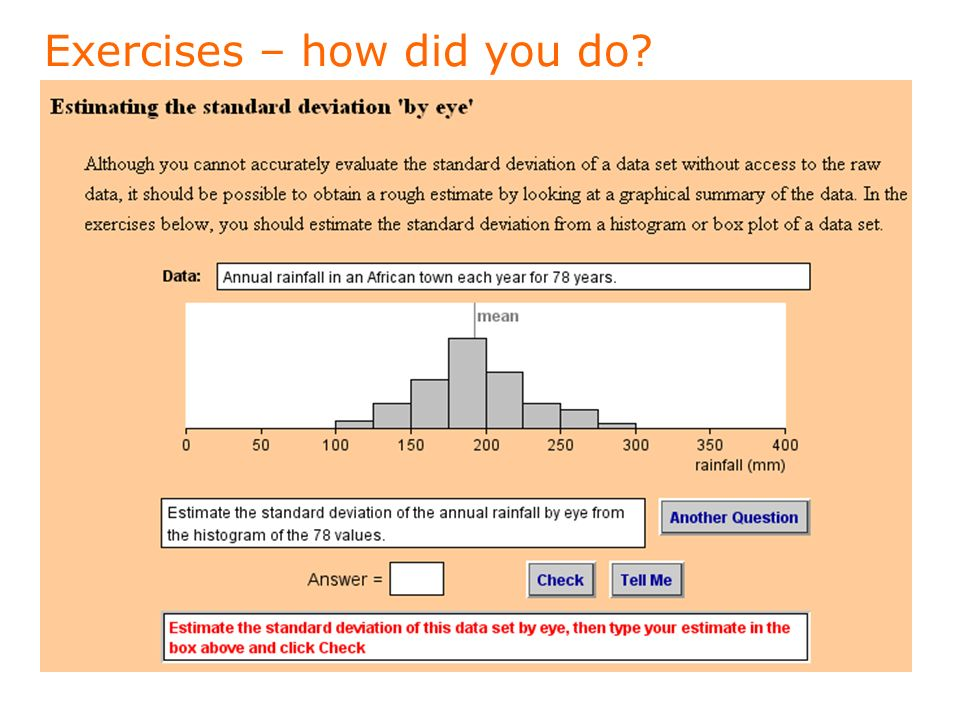 Exercises – how did you do