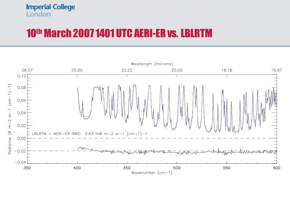 10 th March 2007 1401 UTC AERI-ER vs. LBLRTM