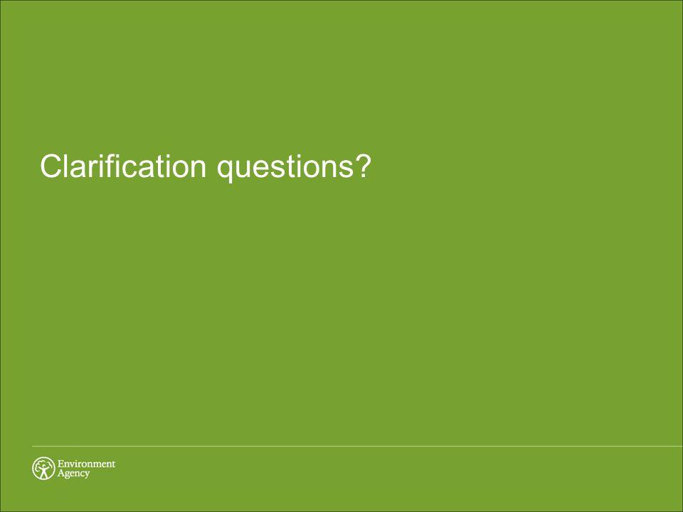 Clarification questions?
