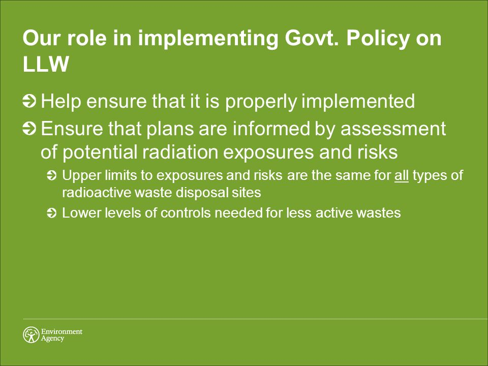 Our role in implementing Govt.