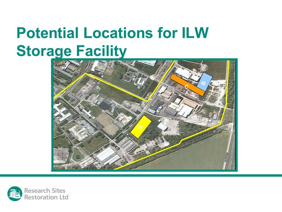Potential Locations for ILW Storage Facility A B C