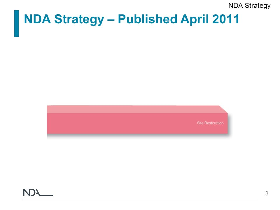 3 NDA Strategy – Published April 2011 NDA Strategy