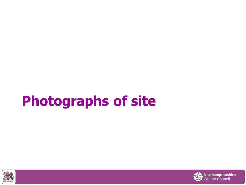 Photographs of site