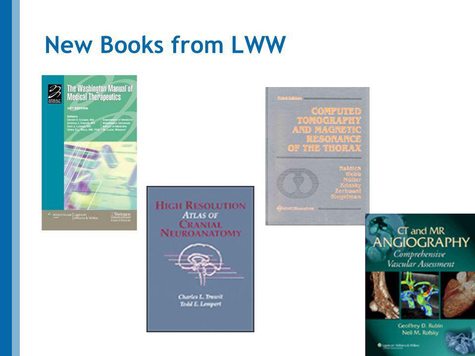 New Books from LWW