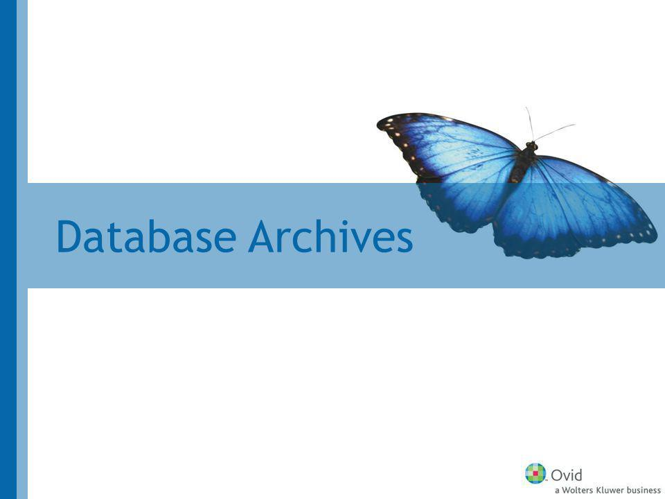 Database Archives