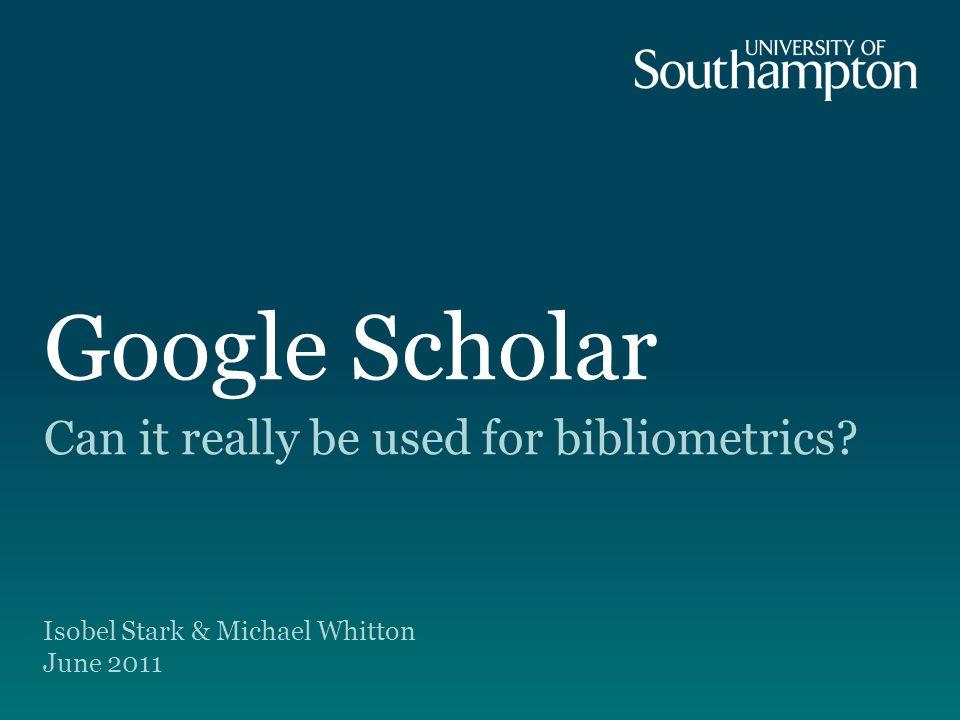 Google Scholar 2 Historical background.
