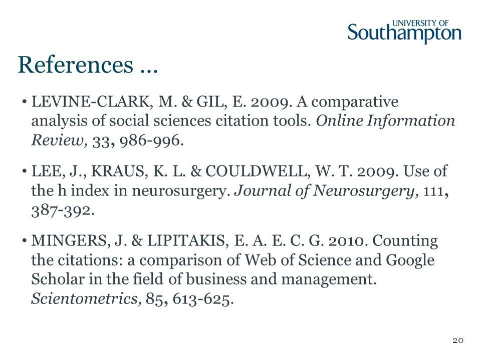References … 20 LEVINE-CLARK, M. & GIL, E. 2009.