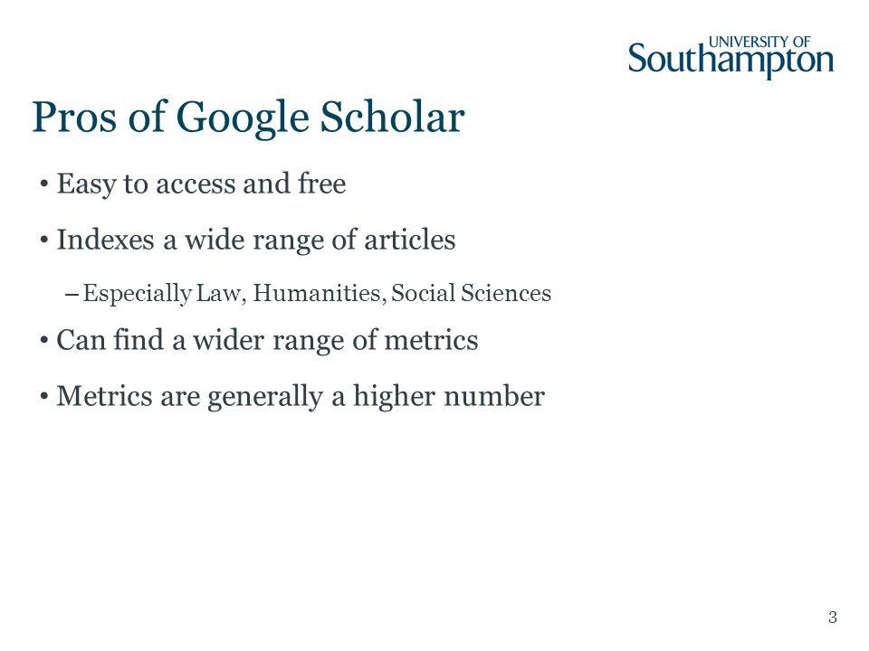 The h-index: WoS vs Google Scholar 14 Prof.