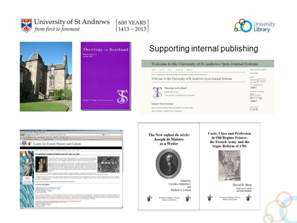 Supporting internal publishing