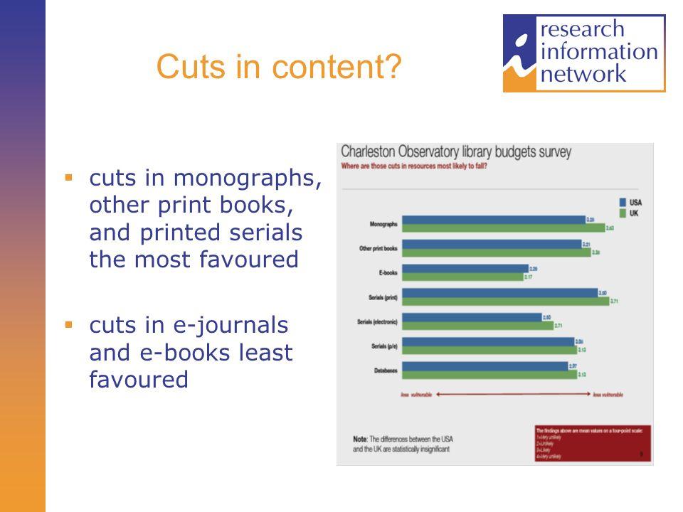 Cuts in content.