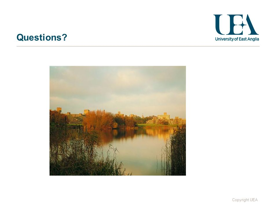 Copyright UEA Questions