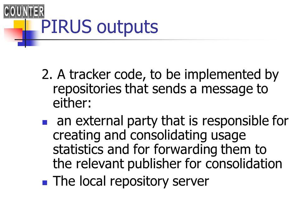 PIRUS outputs 3.
