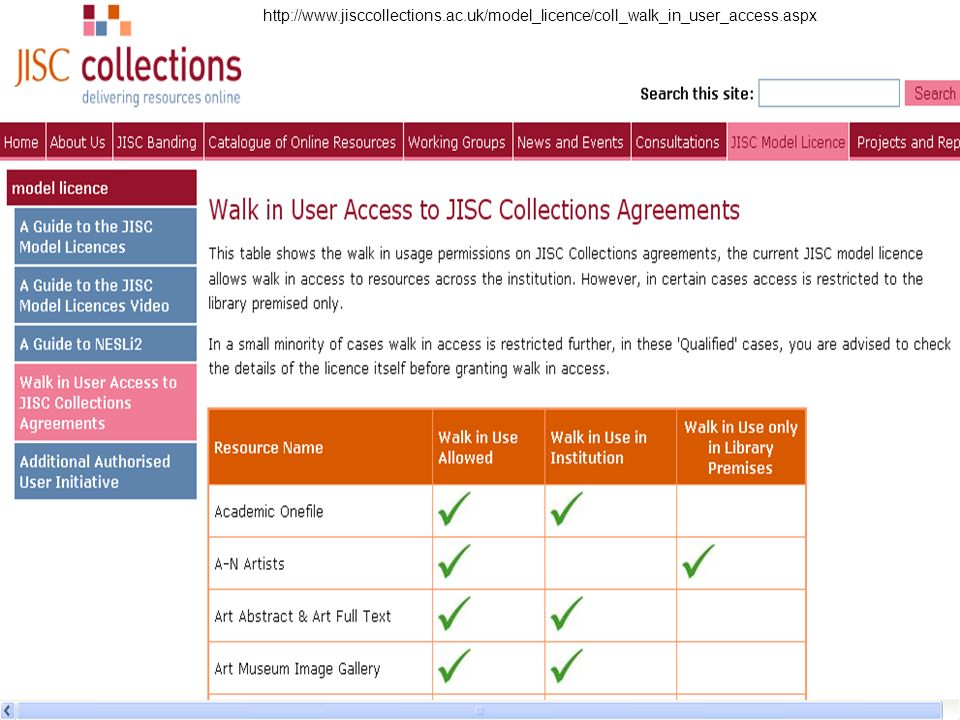 http://www.jisccollections.ac.uk/model_licence/coll_walk_in_user_access.aspx