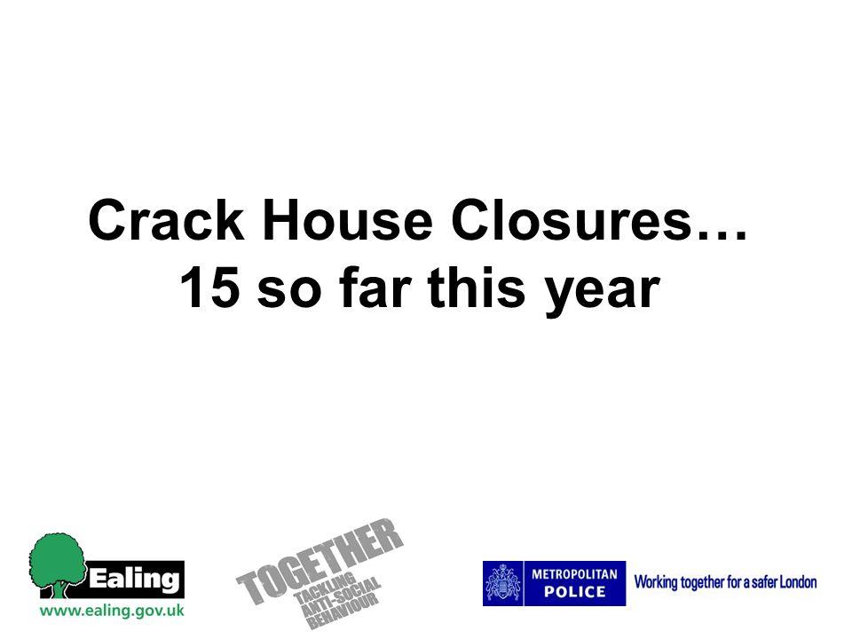 Crack House Closures… 15 so far this year