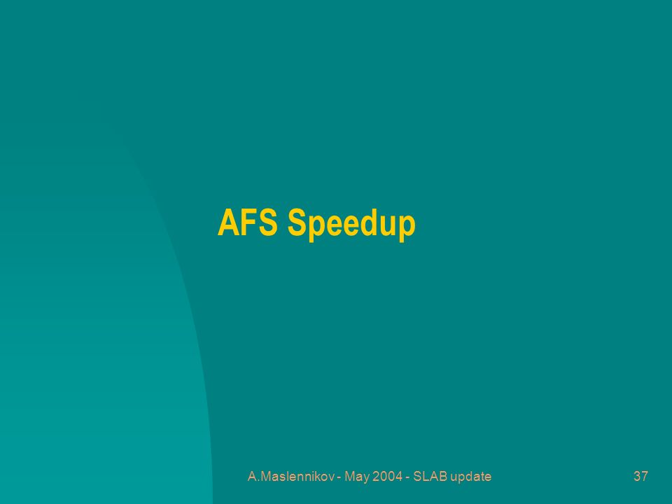 A.Maslennikov - May 2004 - SLAB update37 AFS Speedup