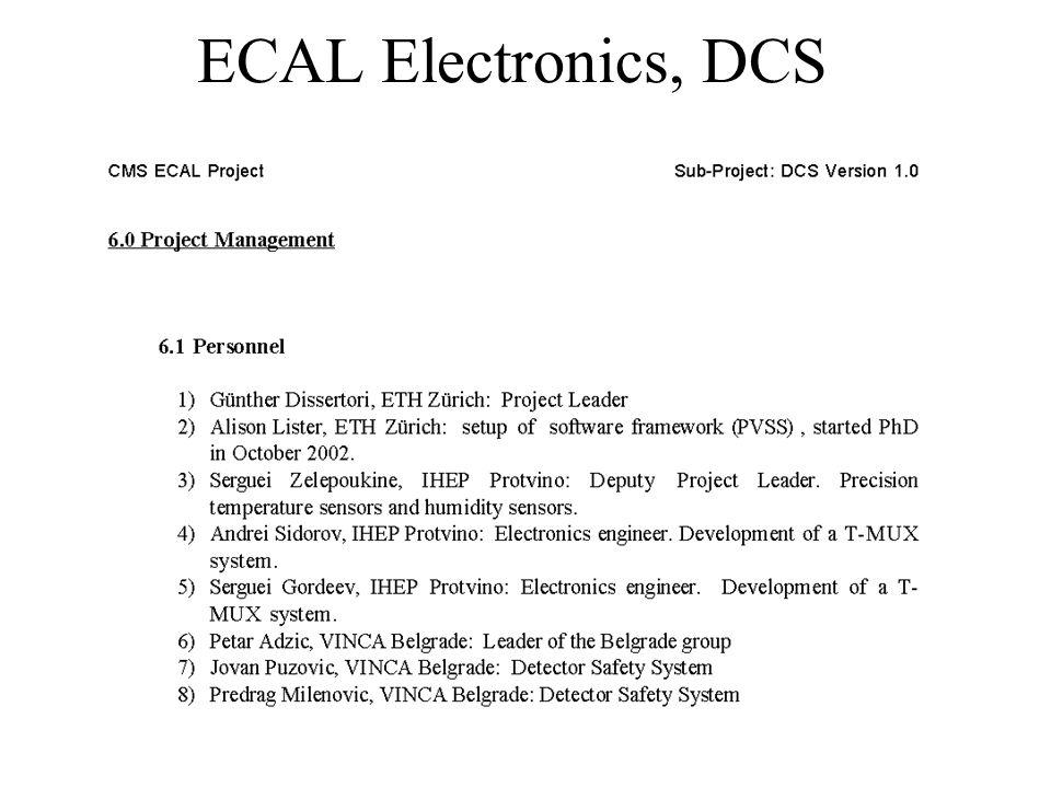 ECAL Electronics, DCS