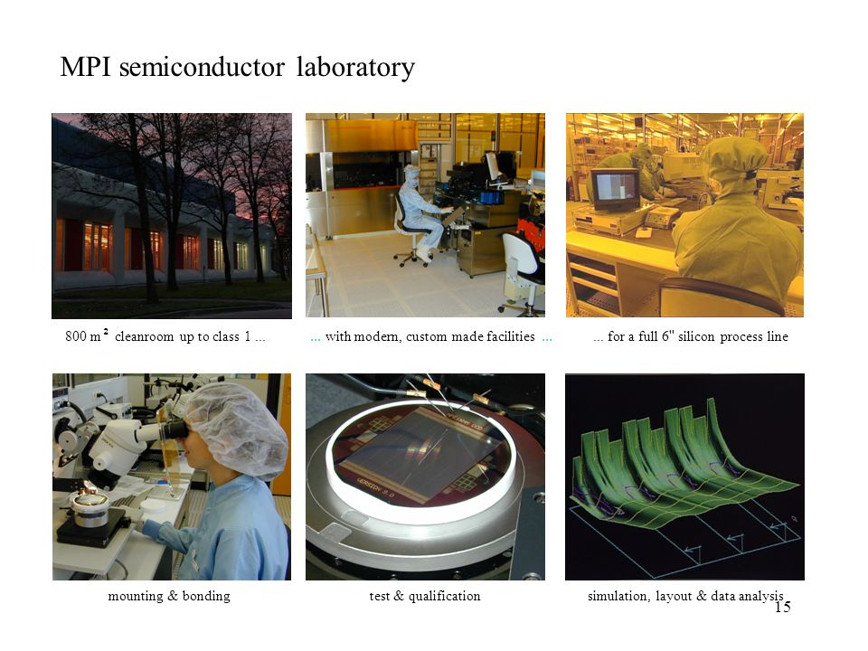 15 MPI semiconductor laboratory... with modern, custom made facilities......