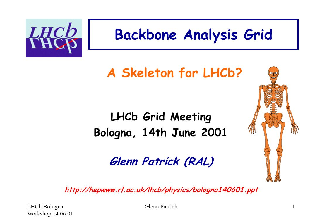 LHCb Bologna Workshop 14.06.01 Glenn Patrick1 Backbone Analysis Grid A Skeleton for LHCb.