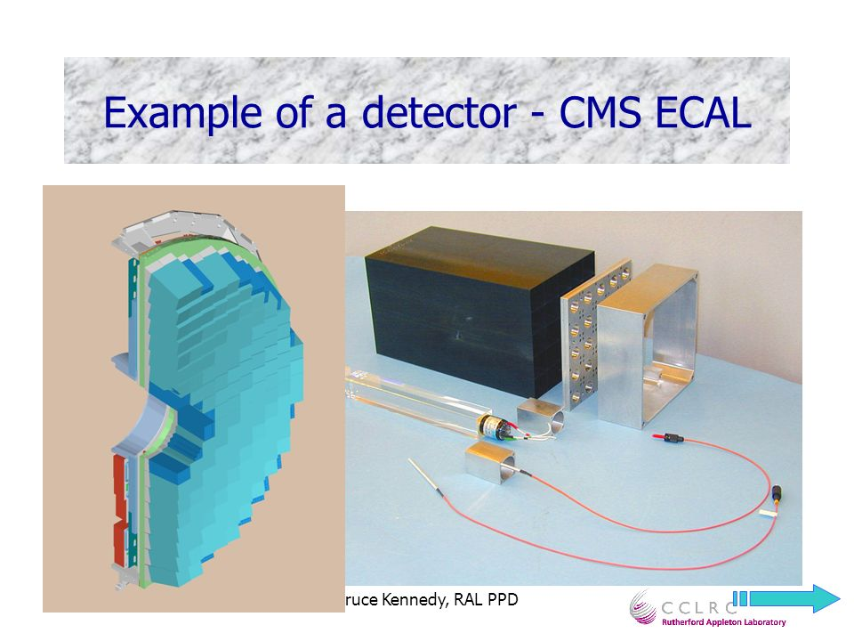Bruce Kennedy, RAL PPD Example of a detector - CMS ECAL