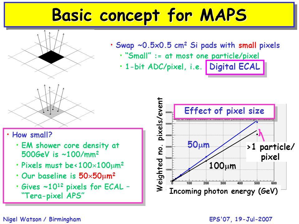 SiD 16mm 2 area cells ZOOM 50 50 μm 2 MAPS pixels Tracking calorimeter