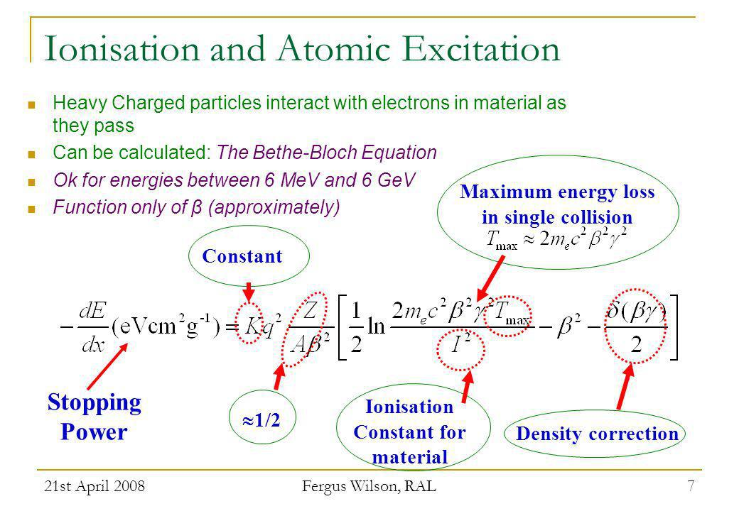 21st April 2008 Fergus Wilson, RAL 28 Reminder: p-n Junctions Silicon doped to change electrical properties Net space charge electric field Intrinsic depletion can be increased by reverse bias d http://britneyspears.ac/physics/pn/pnjunct.htm Charge carriers diffuse out of depletion region