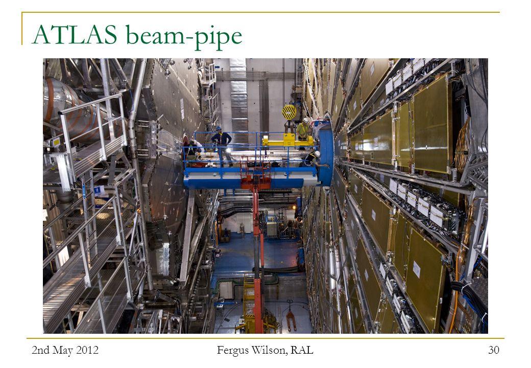 ATLAS beam-pipe 2nd May 2012 Fergus Wilson, RAL 30