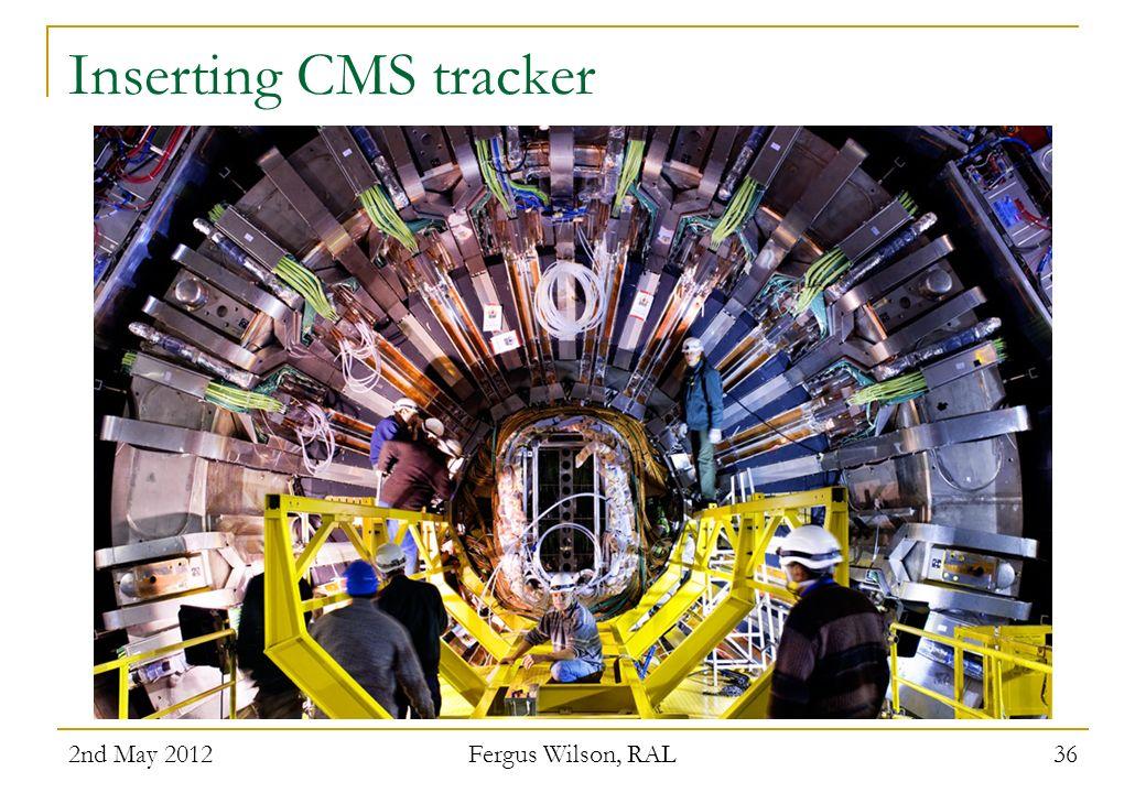 Inserting CMS tracker 2nd May 2012 Fergus Wilson, RAL 36