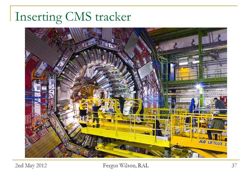 Inserting CMS tracker 2nd May 2012 Fergus Wilson, RAL 37