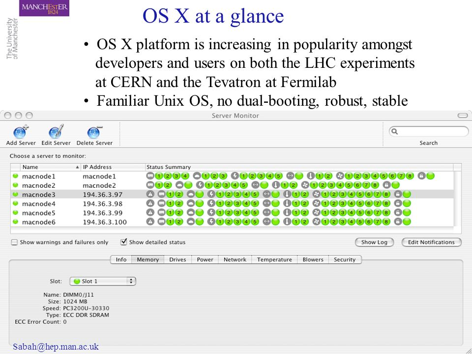 OS X platform is increasing in popularity amongst developers and users on both the LHC experiments at CERN and the Tevatron at Fermilab Familiar Unix