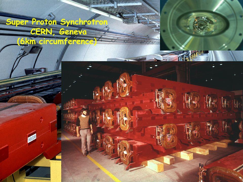 13 Super Proton Synchrotron CERN, Geneva (6km circumference)