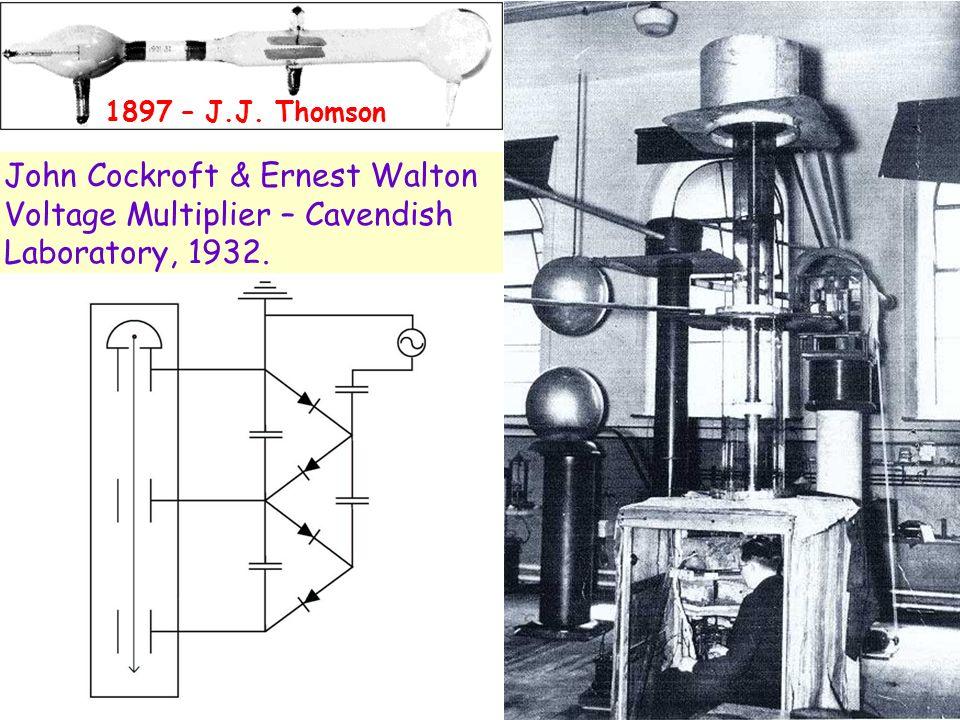 7 John Cockroft & Ernest Walton Voltage Multiplier – Cavendish Laboratory, 1932. 1897 – J.J. Thomson