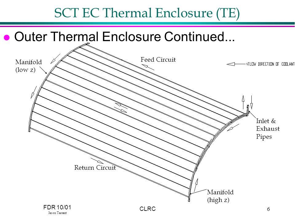 FDR 10/01 Jason Tarrant CLRC6 SCT EC Thermal Enclosure (TE) l Outer Thermal Enclosure Continued...