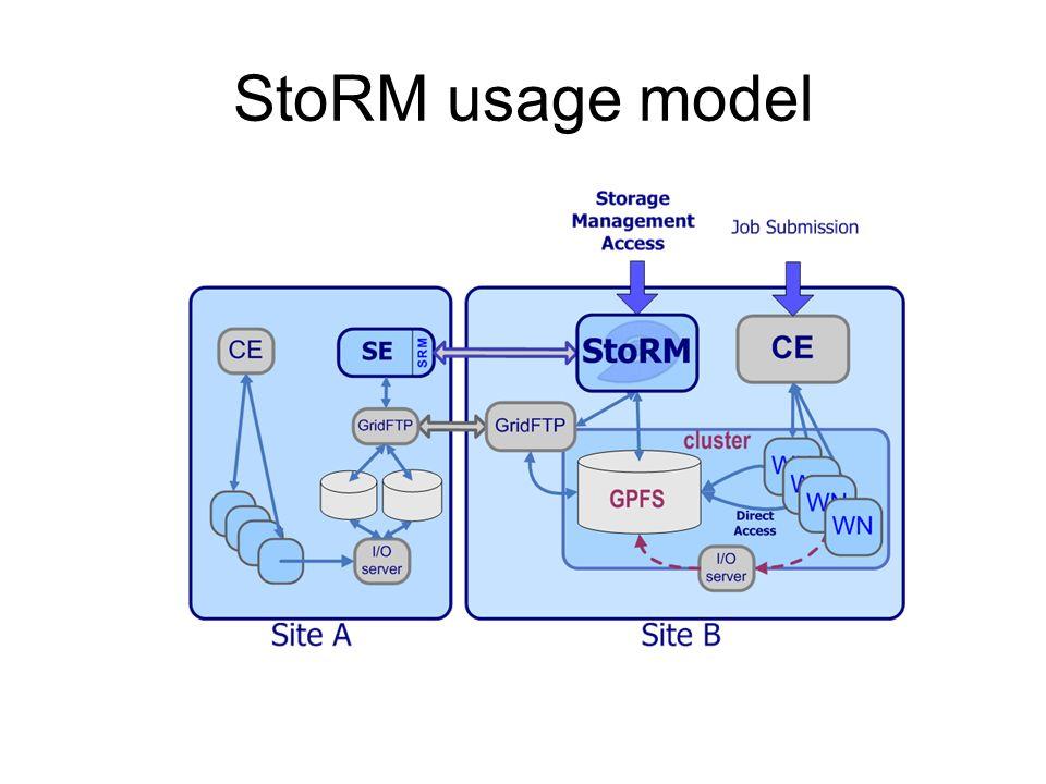 StoRM usage model