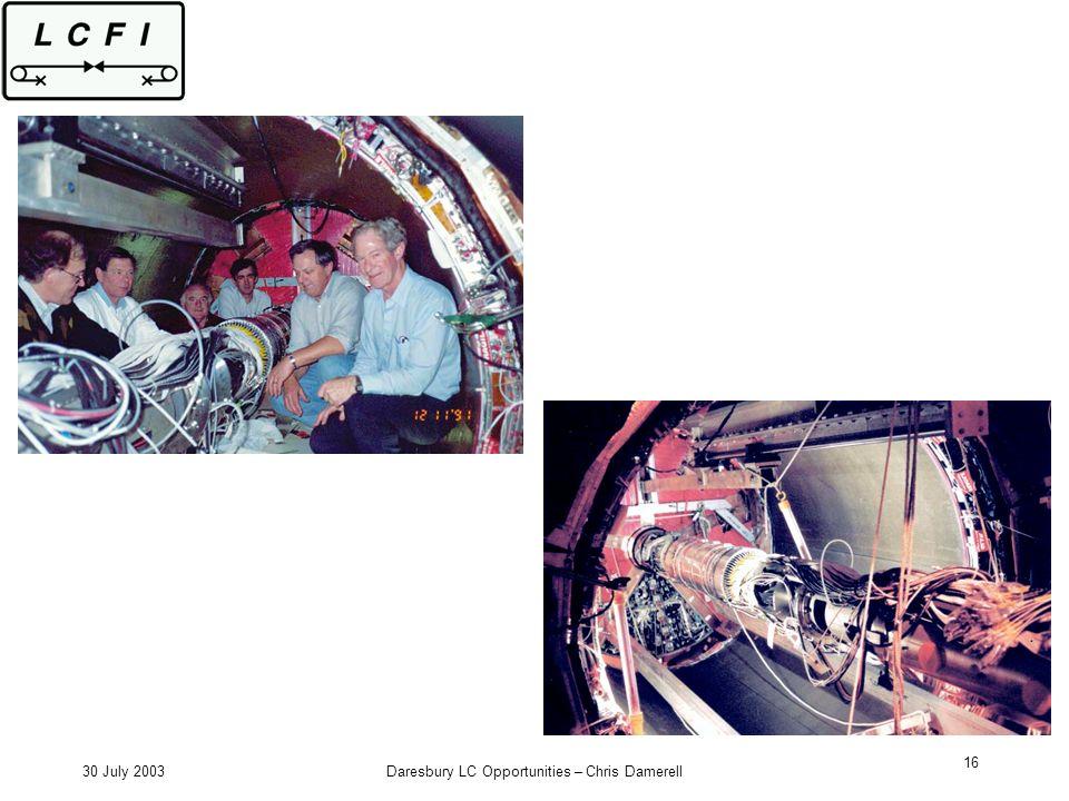 30 July 2003Daresbury LC Opportunities – Chris Damerell 16