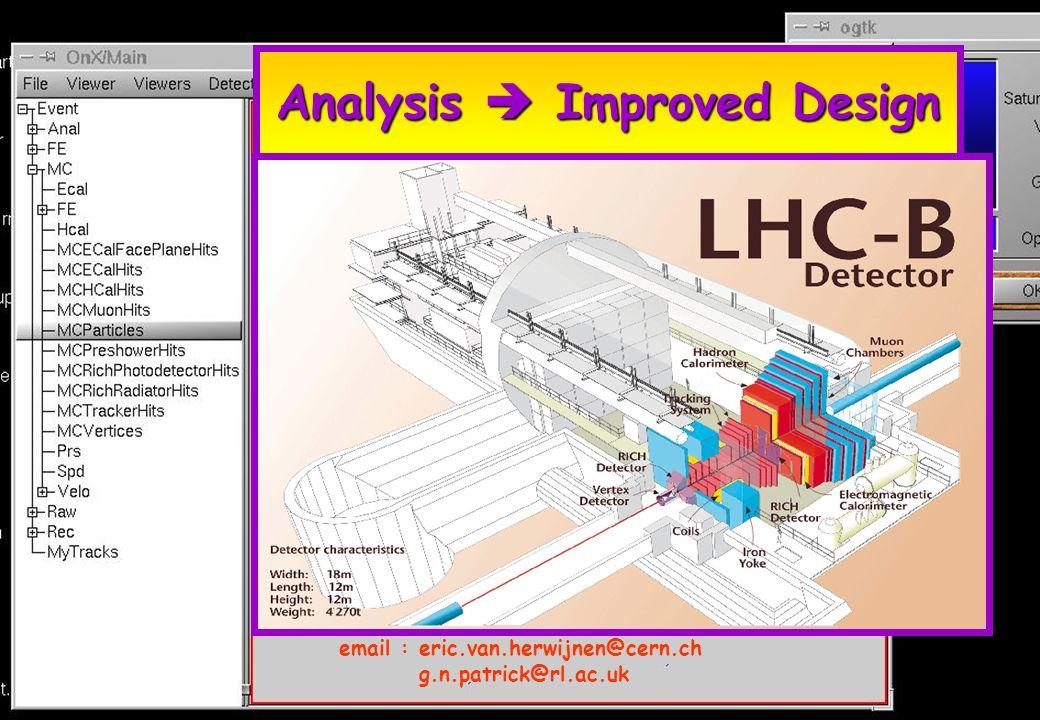Analysis Improved Design email :eric.van.herwijnen@cern.ch g.n.patrick@rl.ac.uk