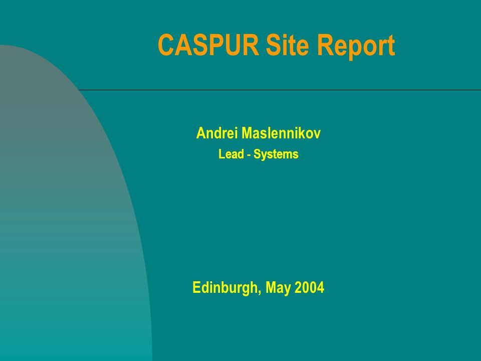 A.Maslennikov - Edinburgh 20042 Contents Update on central computers Storage news Network highlights Projects 2004