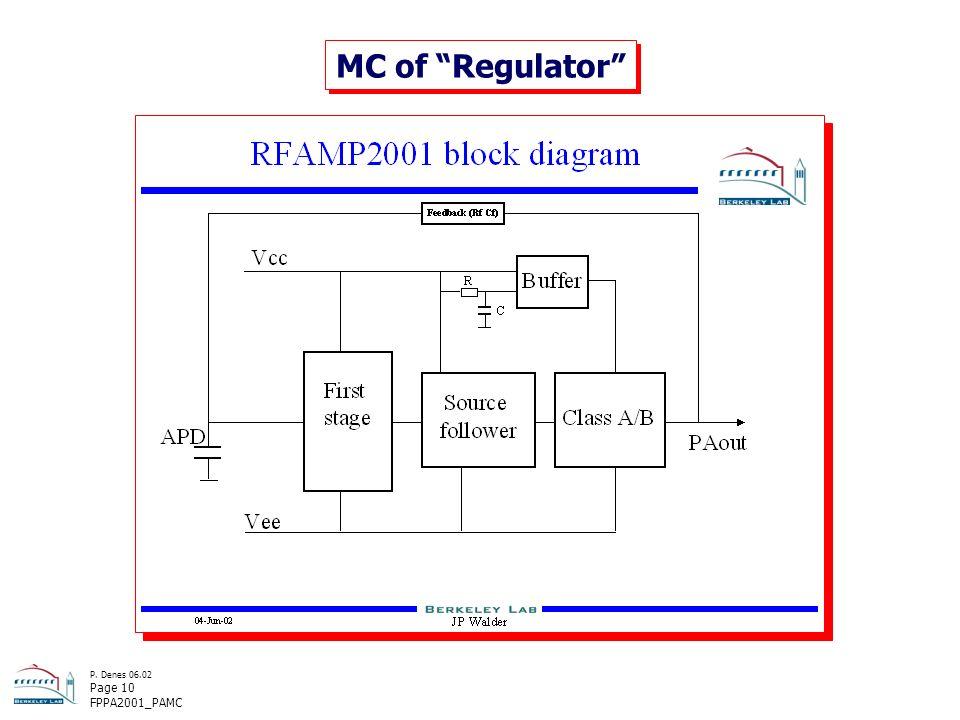 P. Denes 06.02 Page 10 FPPA2001_PAMC MC of Regulator