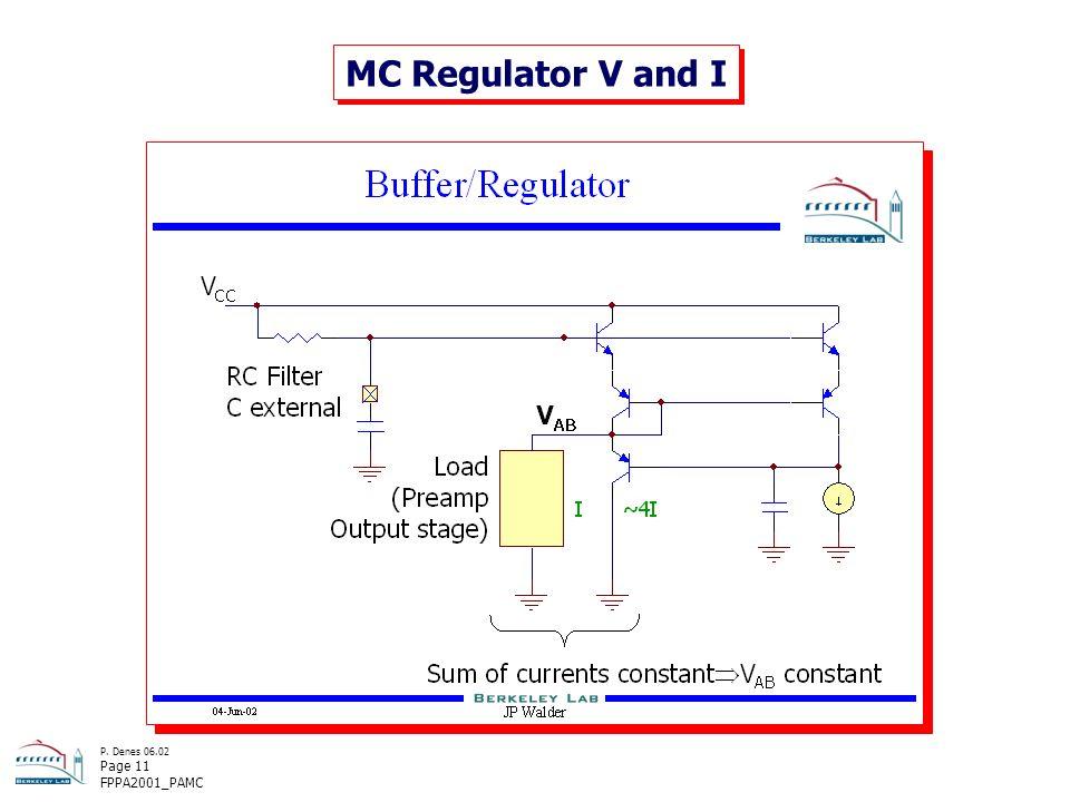 P. Denes 06.02 Page 11 FPPA2001_PAMC MC Regulator V and I