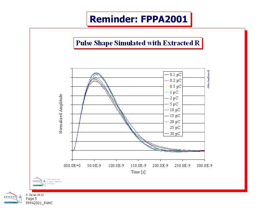 P. Denes 06.02 Page 5 FPPA2001_PAMC Reminder: FPPA2001