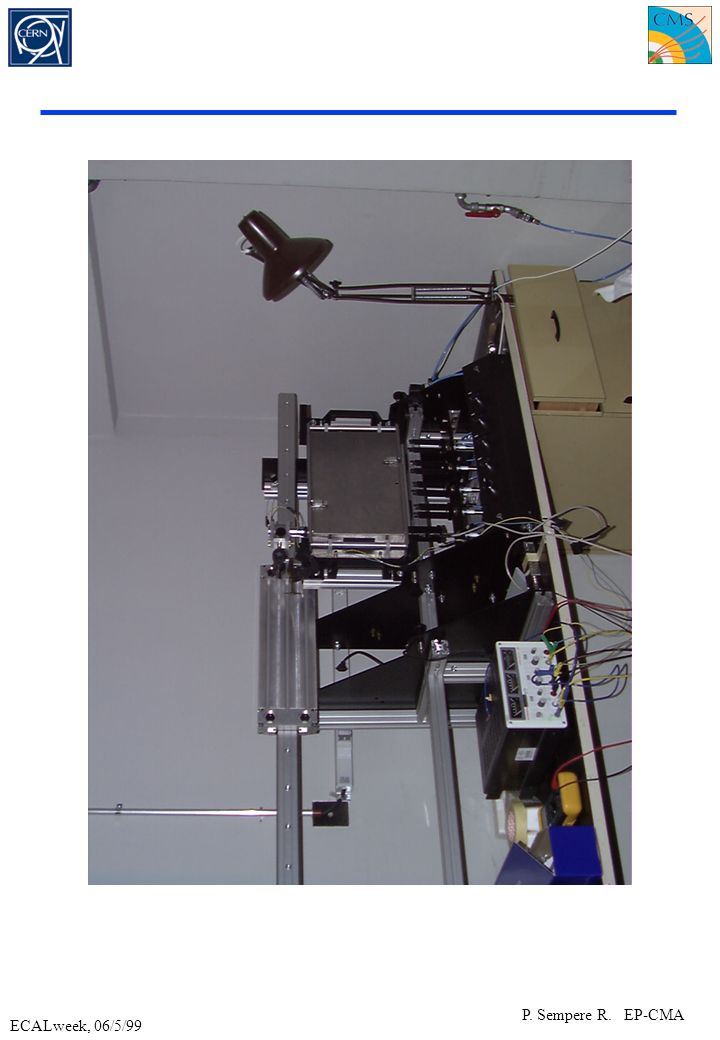 ECALweek, 06/5/99 P.Sempere R. EP-CMA Description of the quality control tools Based in M.