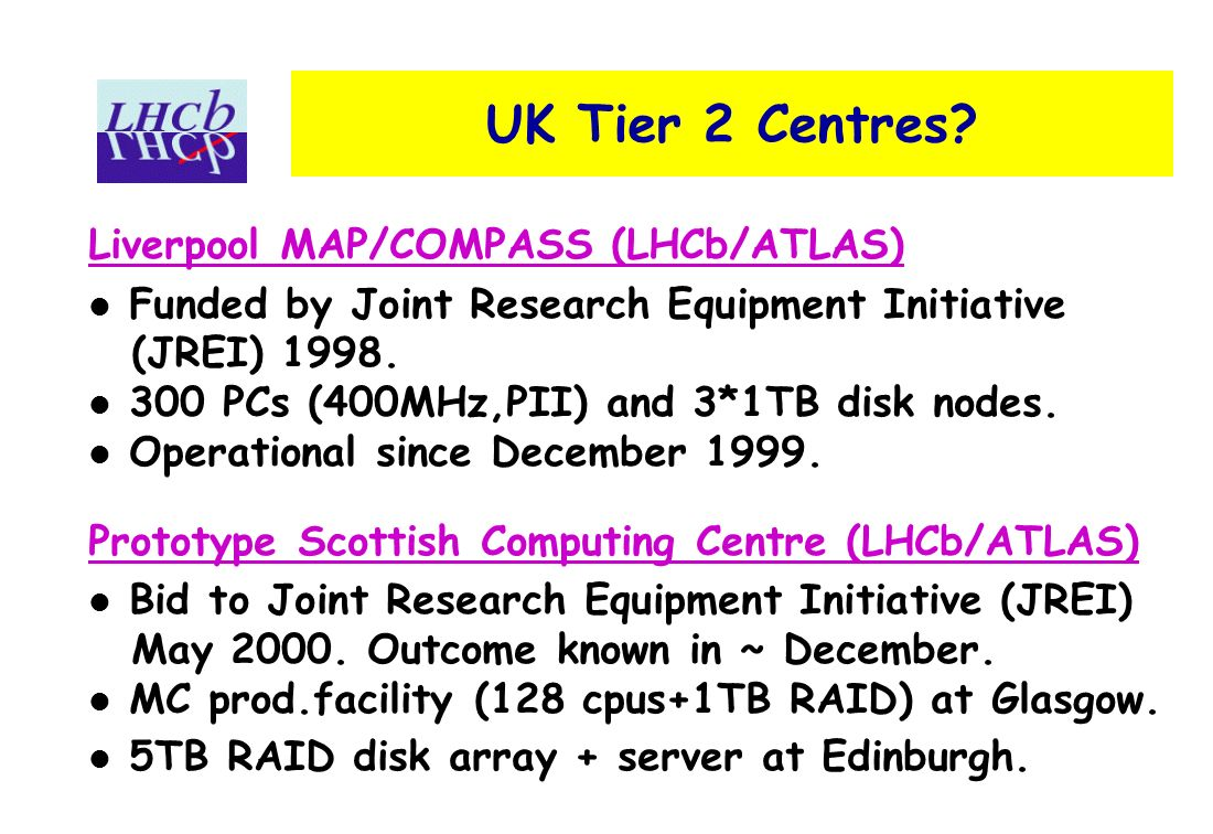 UK Tier 2 Centres.