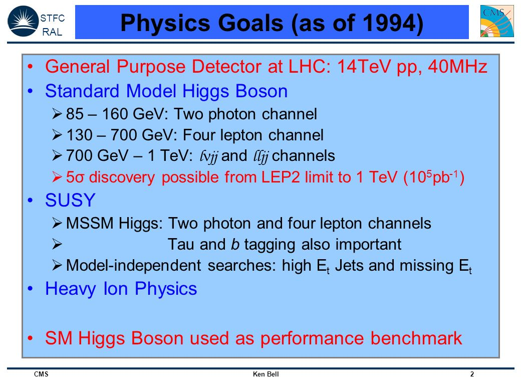 STFC RAL CMS Ken Bell 33 DTs, HCAL & ECAL in Beam Splash Events Inner tracking systems kept OFF DT muon chamber hits ~2x10 9 protons on collimator ~150m upstream of CMS HCAL energyECAL energy Debris